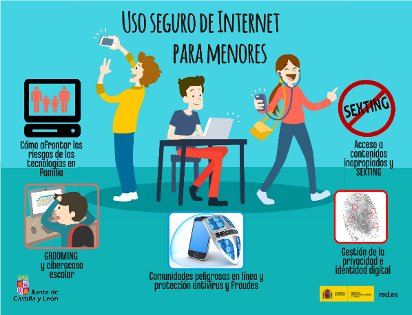 La Junta de Castilla y León impartirá cursos de formación en el uso seguro de las TIC para familias y educadores
