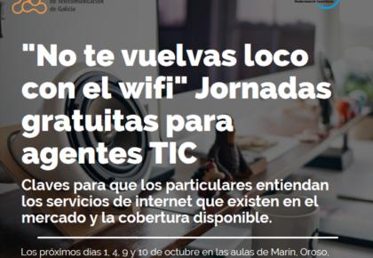 La Amtega y la AETG organizan las jornadas «no enloquezcas con el wifi» para informar sobre los servicios de internet disponibles en el mercado