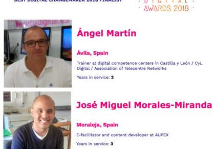 All DIGITAL selecciona como finalista al mejor agende del cambio a dos dinamizadores de la Asociación