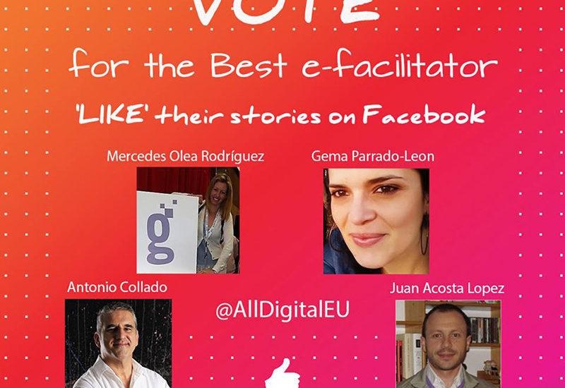 Tres dinamizadores de la Asociación, finalistas al premio de mejor dinamizador digital de Europa