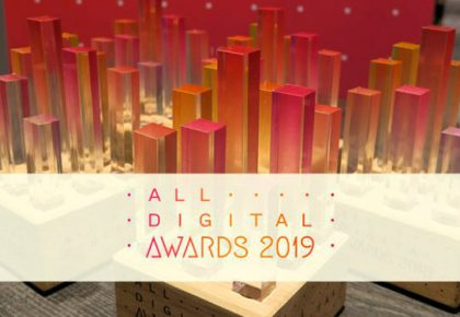 """Tres candidaturas finalistas a los """"All Digital Adwards"""" para redes de la Asociación Somos Digital."""