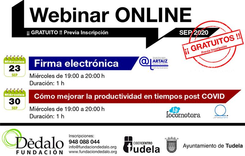 Webinars Septiembre Fundación Dédalo